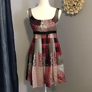 Max & Cleo Empire Sleeveless Satin Dress Sz 4